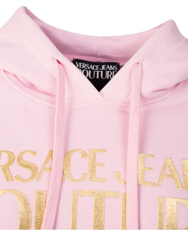 Text Logo Pull Over Hoody