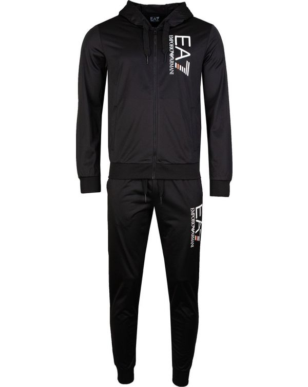 Train 7 Lines Poly Hooded Tracksuit