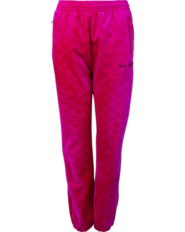 Cherry Velour Cuffed Joggers