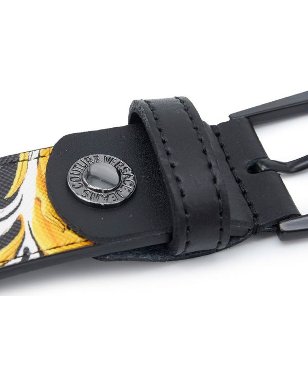 Baroque Print Leather Belt