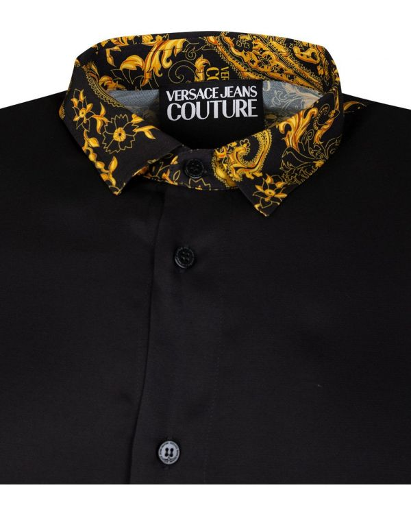 Baroque Print Collar Shirt