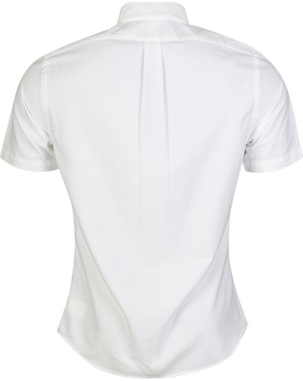 Short Sleeved Slim Fit Oxford Shirt