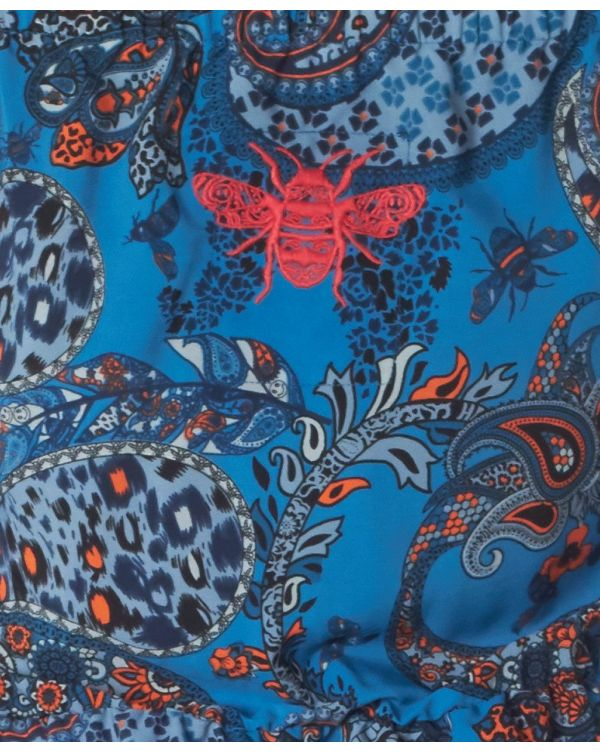 Barong Strapless Paisley Playsuit