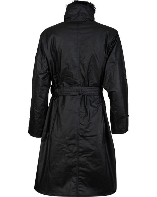 International Wipeout Waxed Trench Coat
