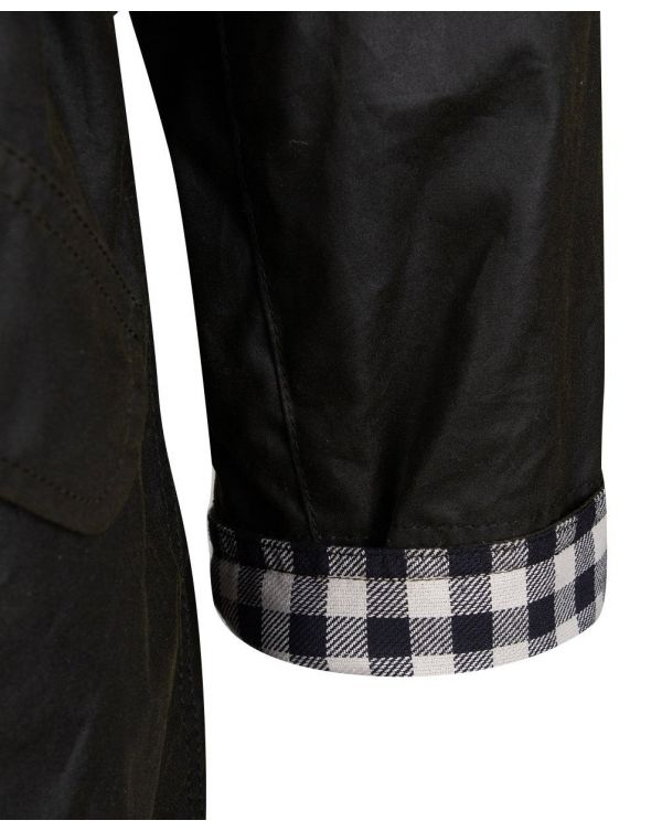 Trudie Waxed Gingham Trench Coat