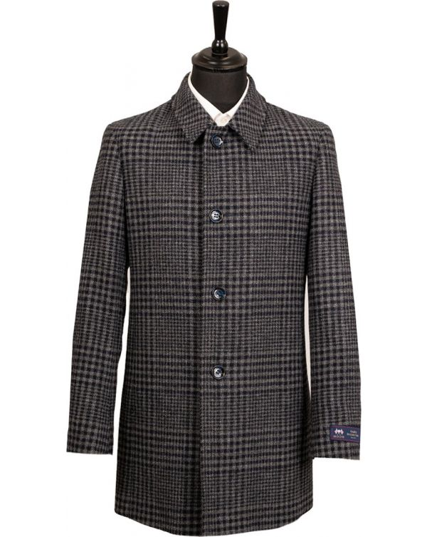 Large Checked Overcoat
