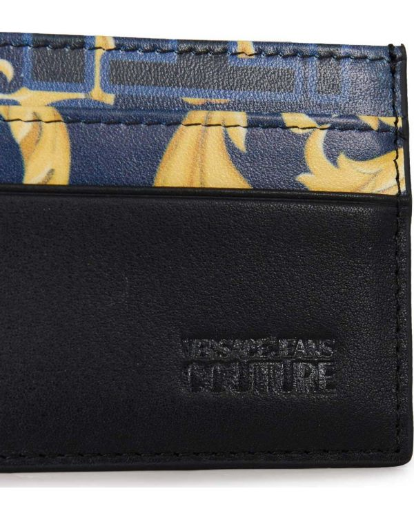 Baroque Print Leather Card Holder