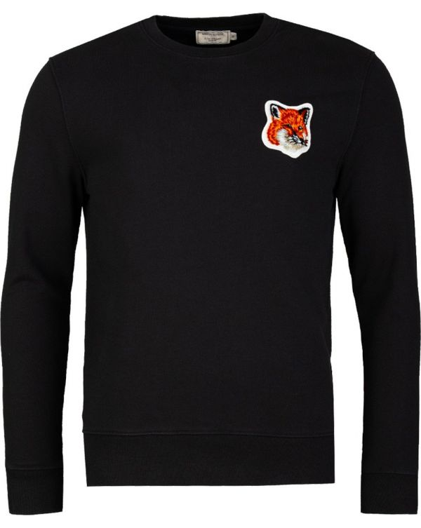 Velvet Fox Head Patch Crew Neck Sweat