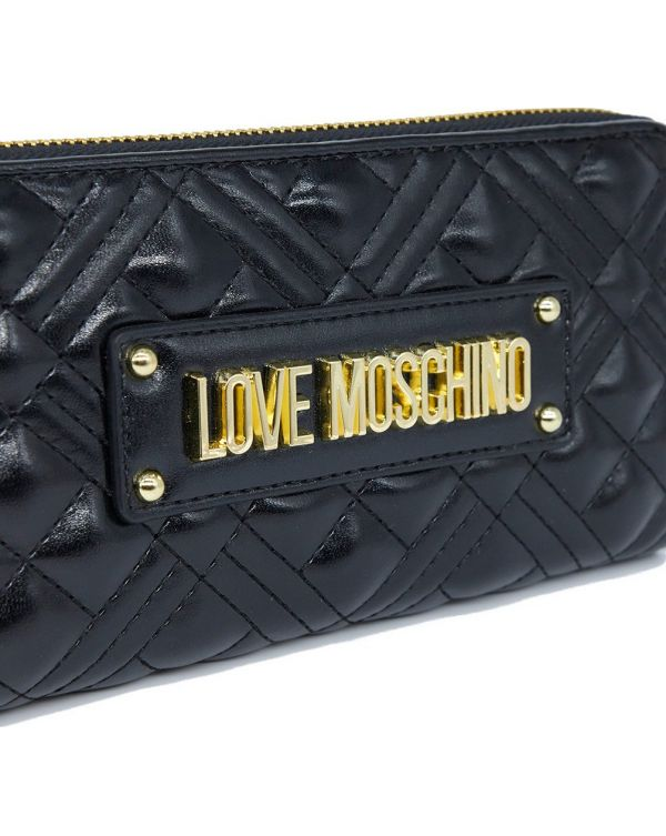 Large Rectangle Quilted Logo Purse