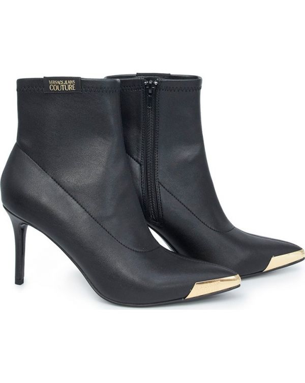 Pointed Lycra Low Heel Ankle Boots