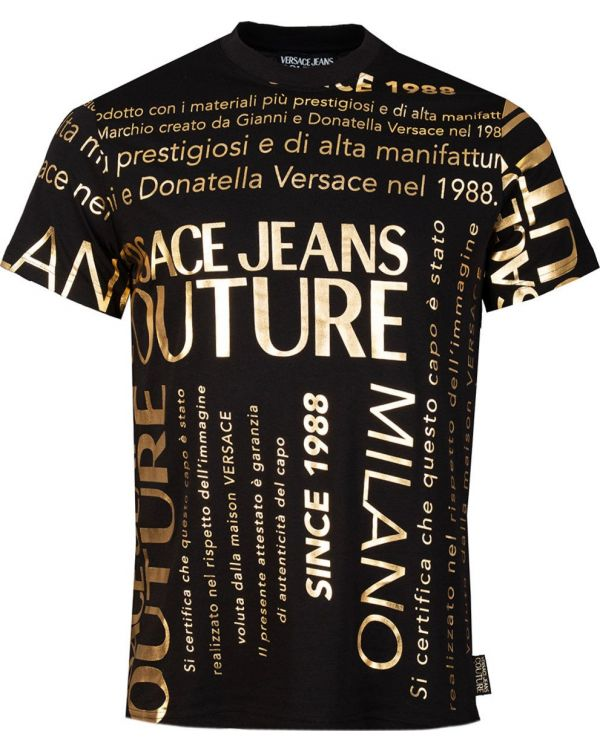 All Over Text Print T-Shirt