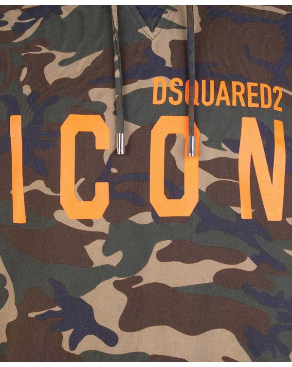 Icon Camo Pop Over Hooded Top