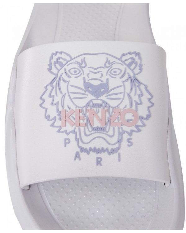 Tiger Logo Irridescent Pool Sliders