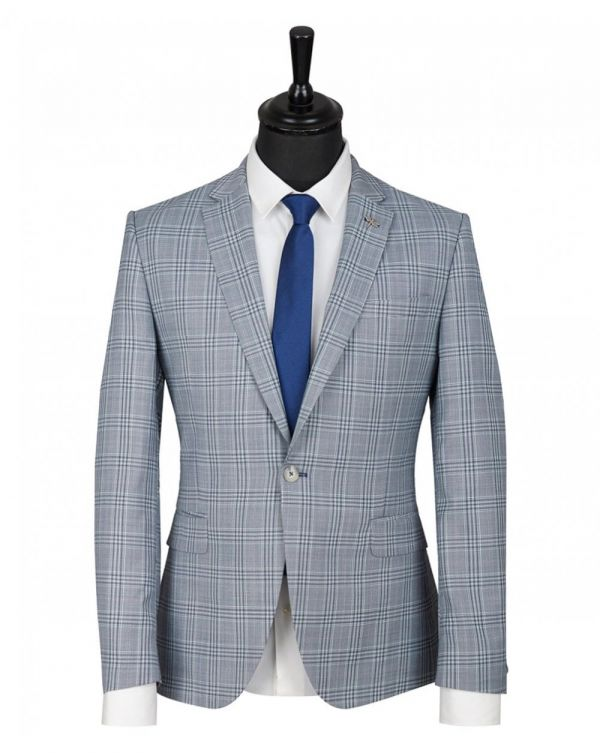 Two Button Checked Jacket