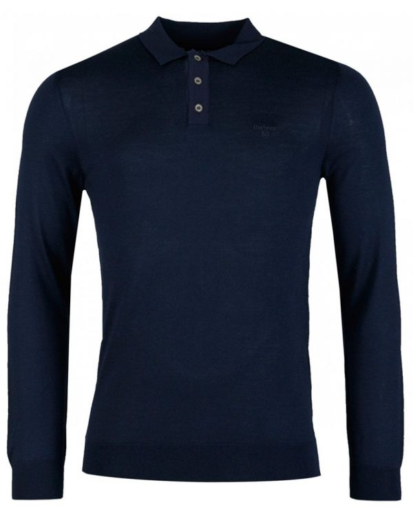 Merino Long Sleeved Polo Shirt