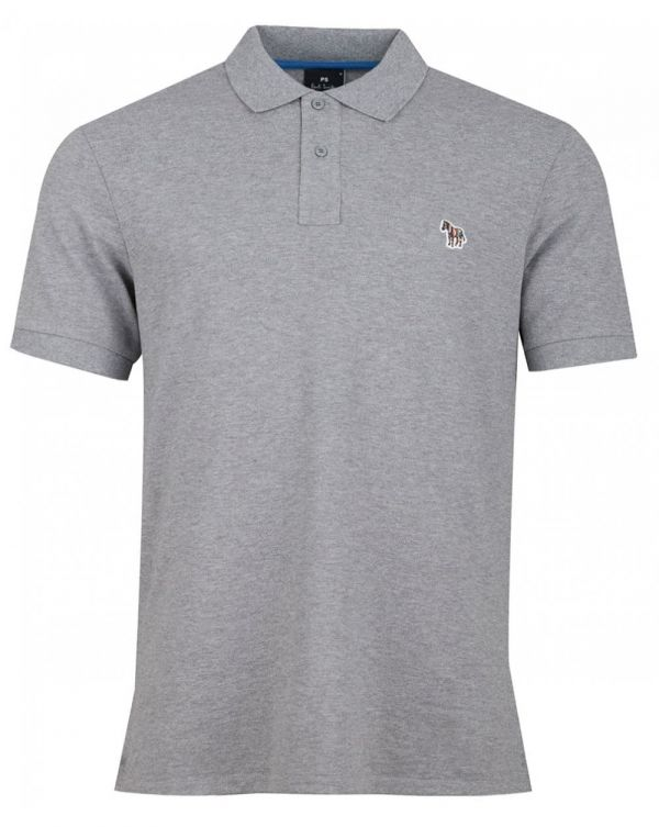 Short Sleeved Regular Fit Zebra Polo
