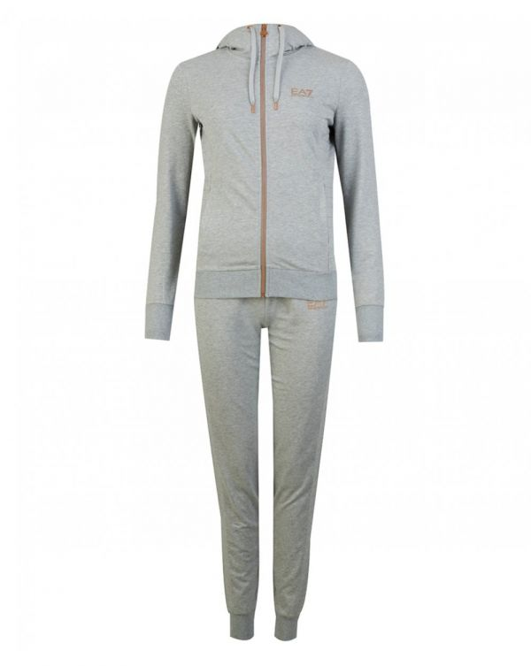 Quilted Zip Through Logo Tracksuit