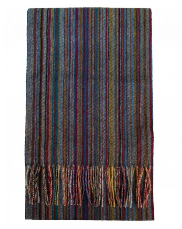 Multi Striped Cashmere Scarf