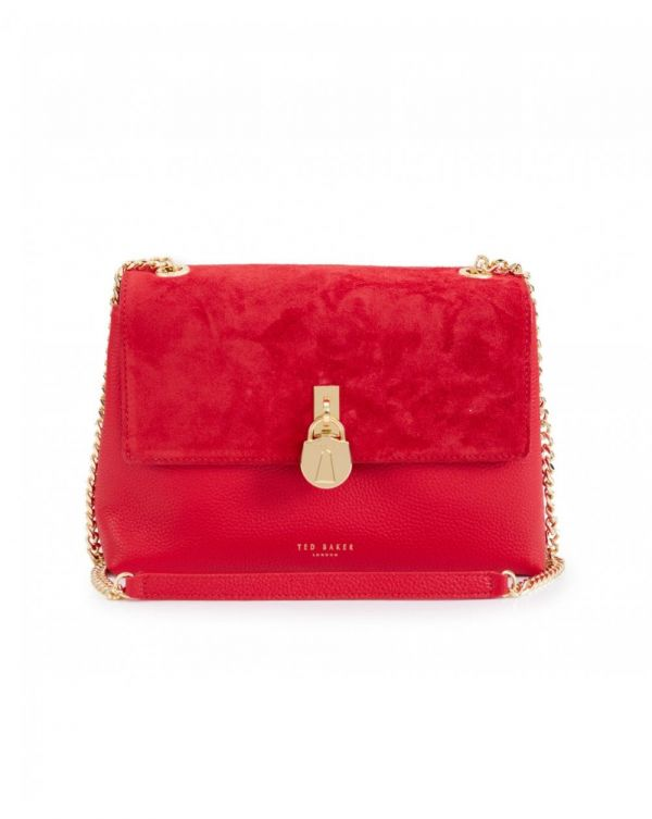 Helena Suede Padlock Cross Body Bag