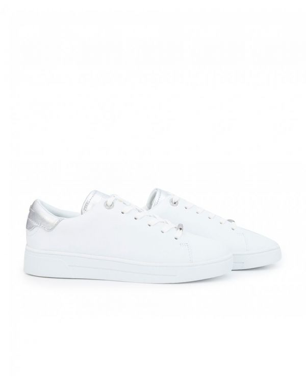 Zenis Metallic Back Leather Trainers