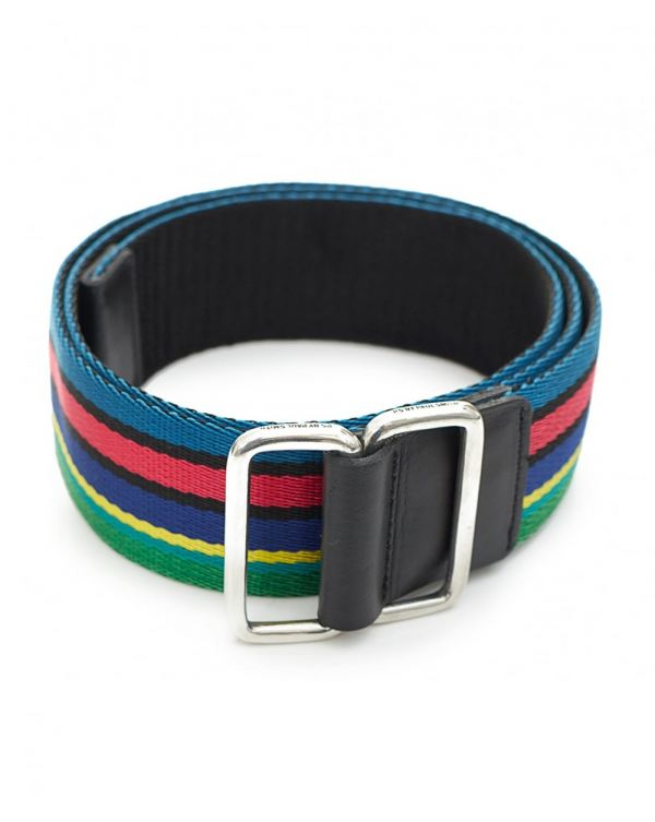 Reversible Mesh Striped Belt