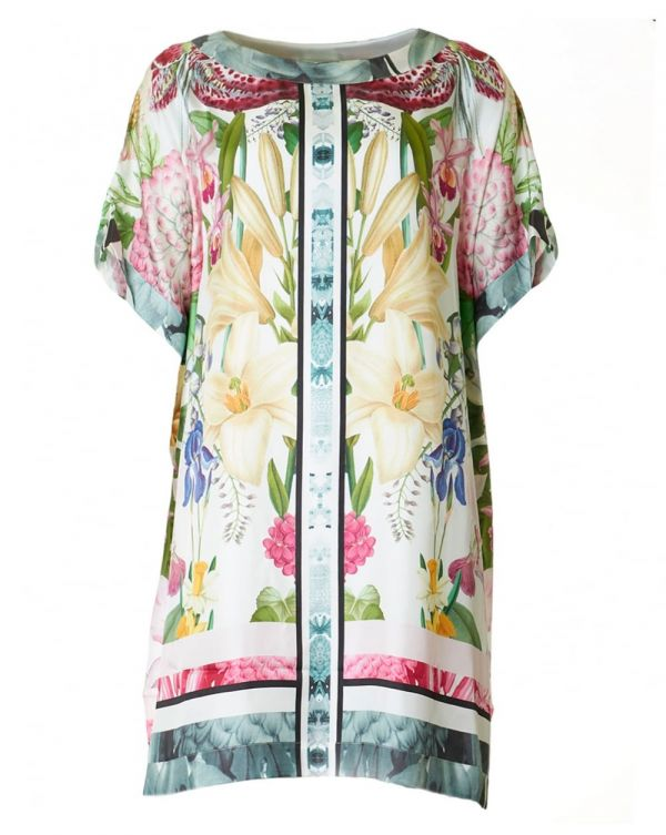 Encyclopedia Flora Print Kaftan