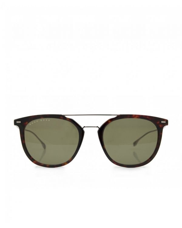 Double Bridge Rounded Sunglasses