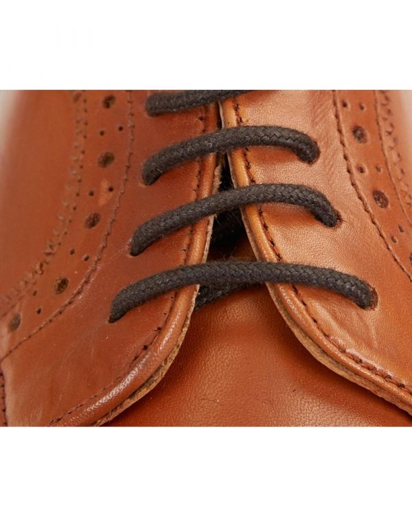 Carlton Lace Shoe Goodyear Welted Leather Tan