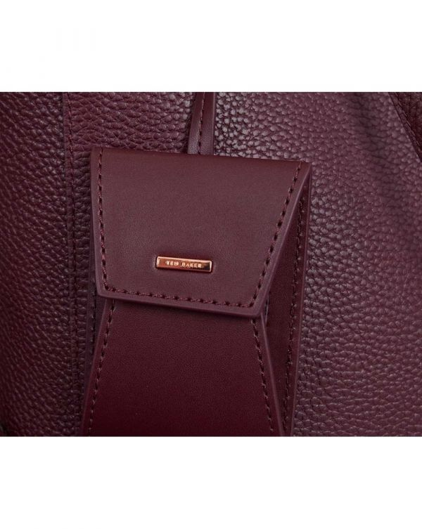 Pebbled Leather Shopping Bag