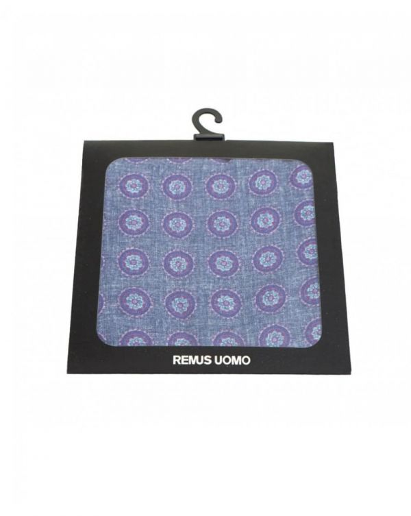 Circle Print Silk Handkerchief