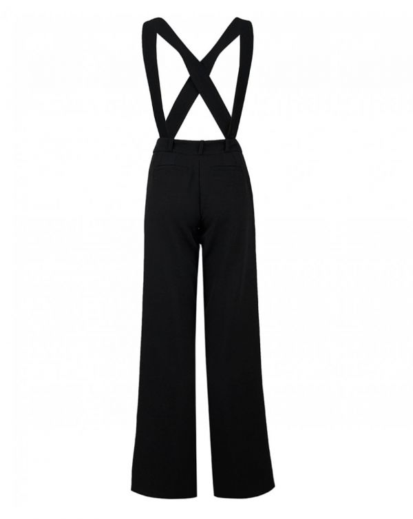 Wide Trousers With Braces