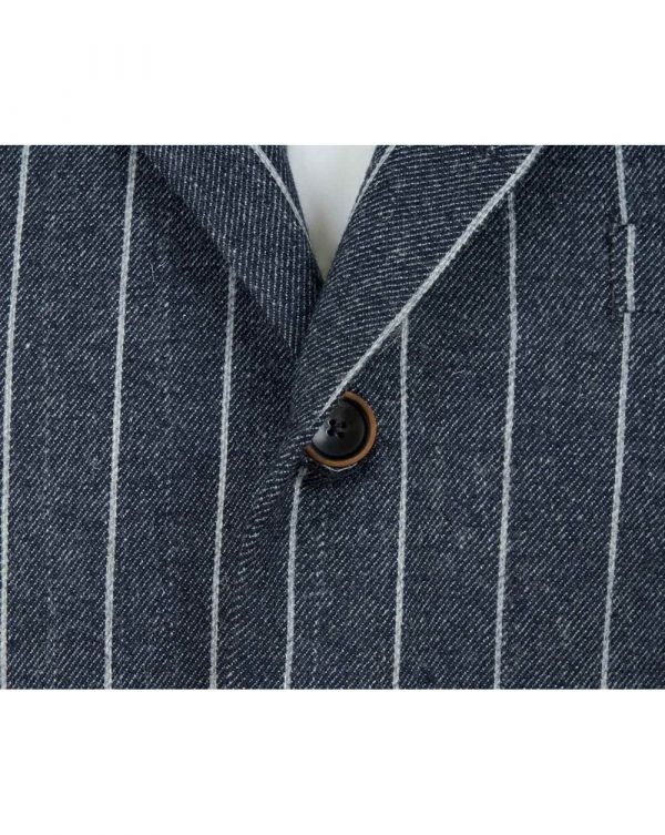 3 Button Wide Stripe Blazer
