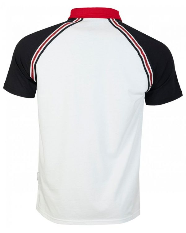Contrast Shoulder Taped Polo Shirt