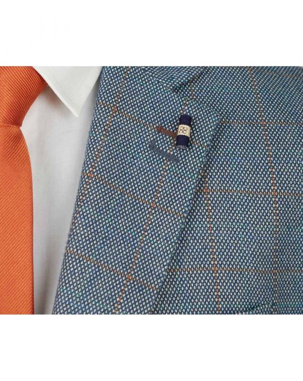 Three Piece Checked Suit