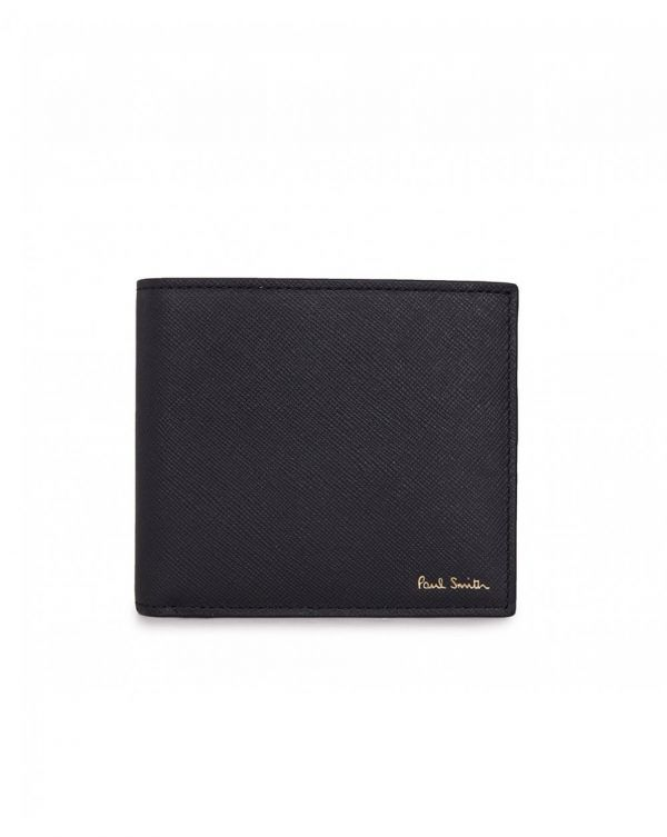 Racing Print Leather Billfold Wallet