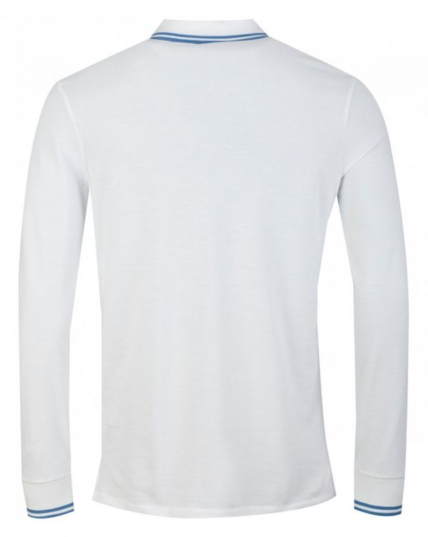 Long Sleeved Supima Cotton Tipped Polo
