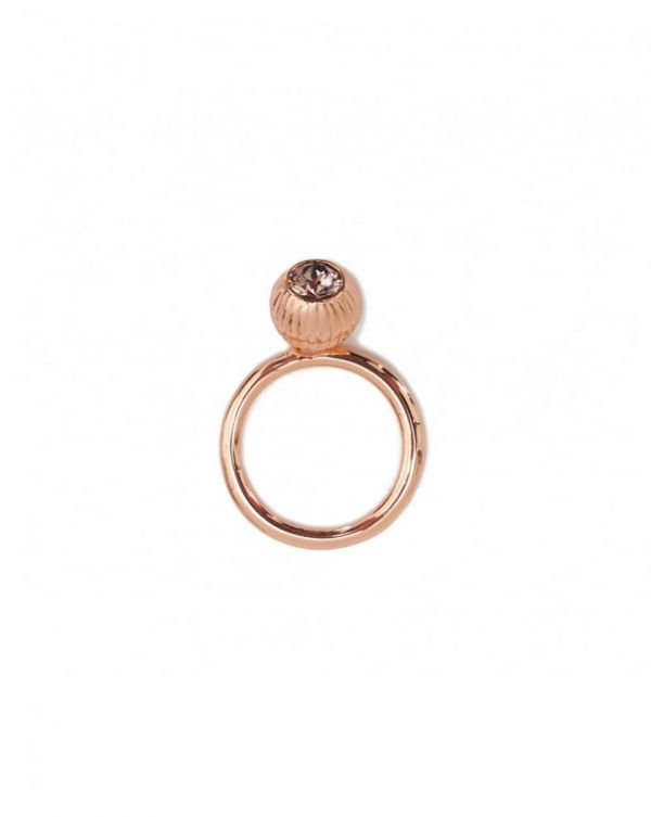 Anessa Plisse Crystal Ball Ring