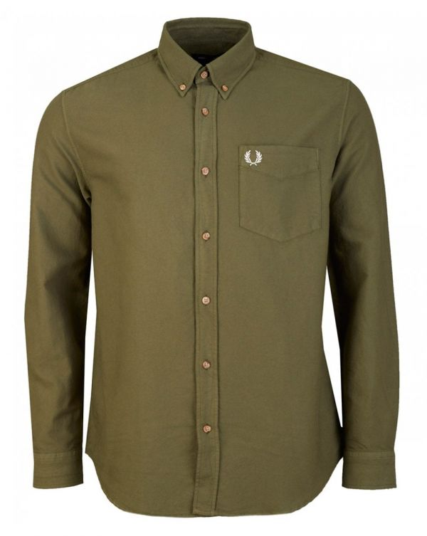Over Dyed Long Sleeved Oxford Shirt