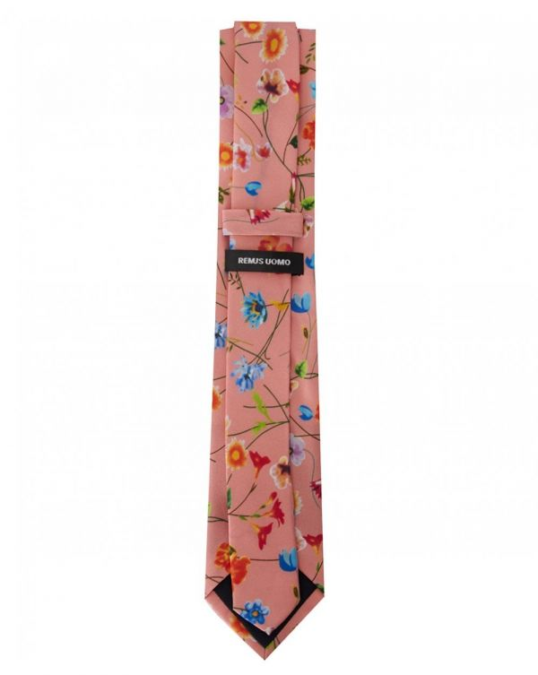 Floral Tie And Handkerchief Set