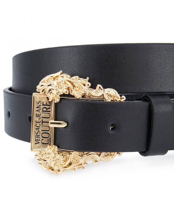 Versace Jeans Couture Logo Fancy Buckle Belt