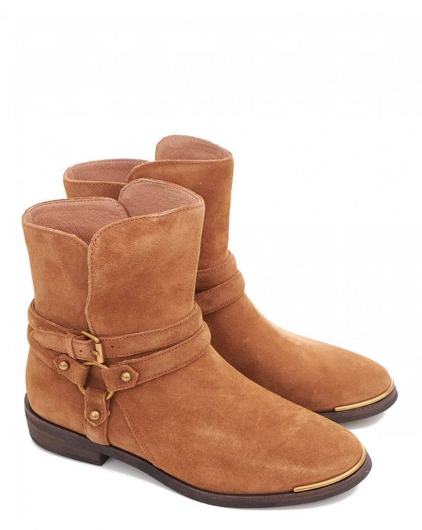 Kelby Suede Ankle Strap Boots