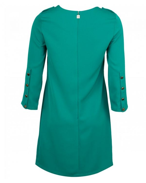 Enghien Button Shoulder Shift Dress