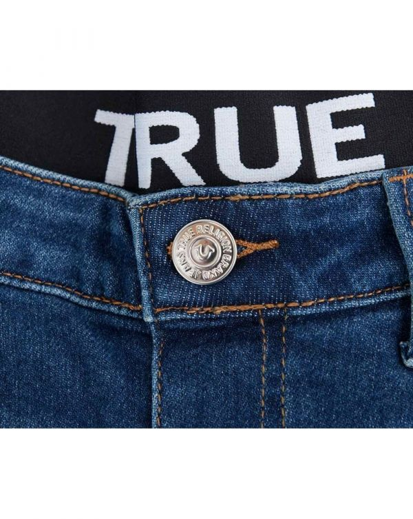 Halle Logo Waist Band Mid Rise Jeans