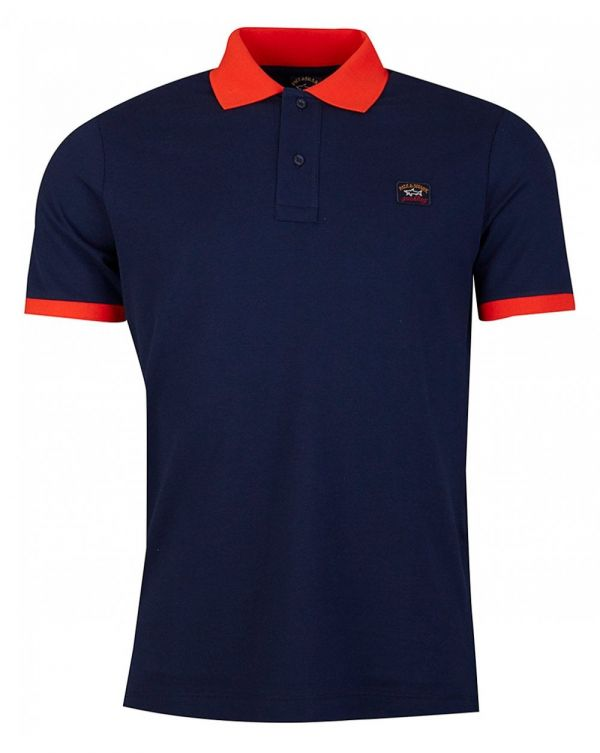 Tipped Collar Cuff Polo Shirt