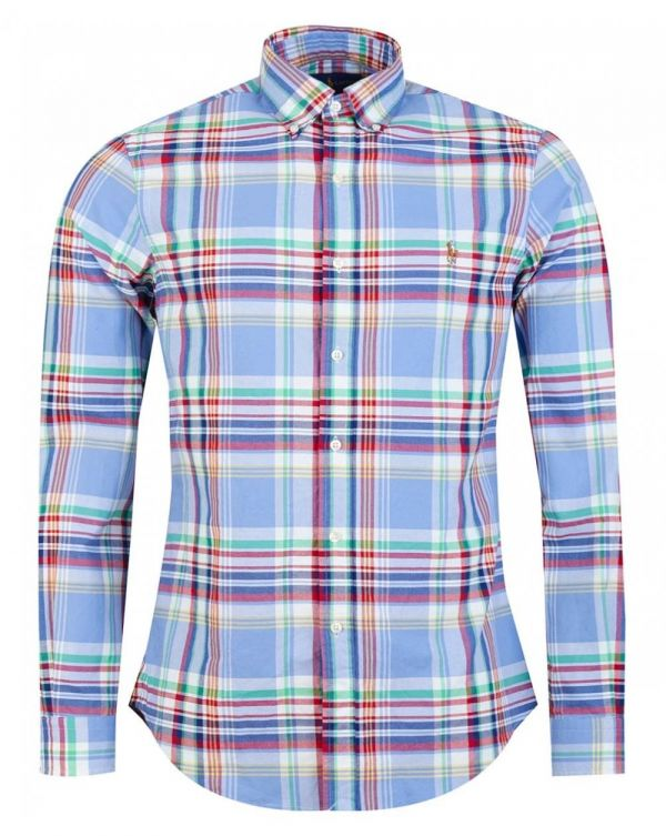 Slim Fit Small Tartan Checked Shirt