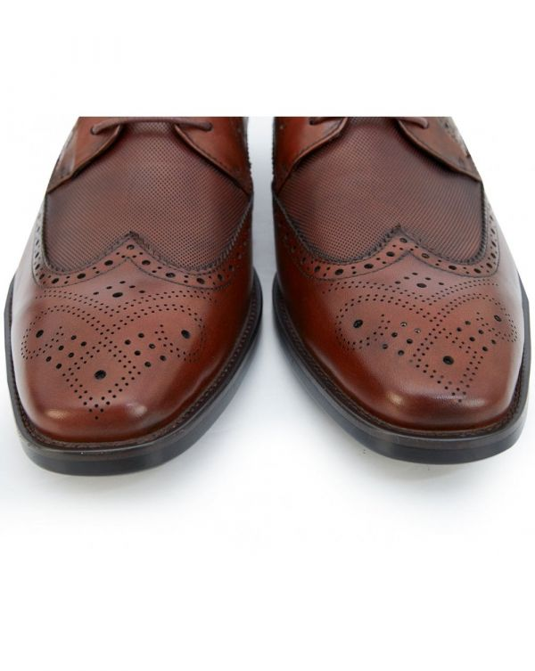 Chilton Brogue Shoe Burnished Leather Black