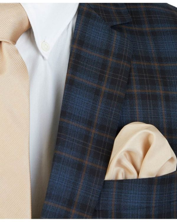 Wool Cotton Check Jacket