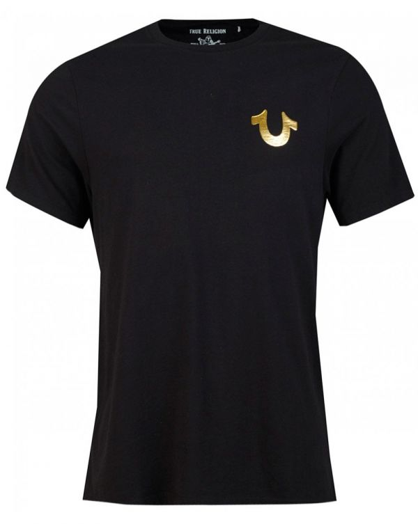 Metallic Horseshoe Buddha T-shirt