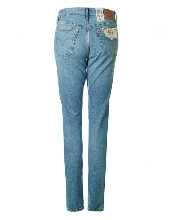 501 Skinny Distressed Jeans