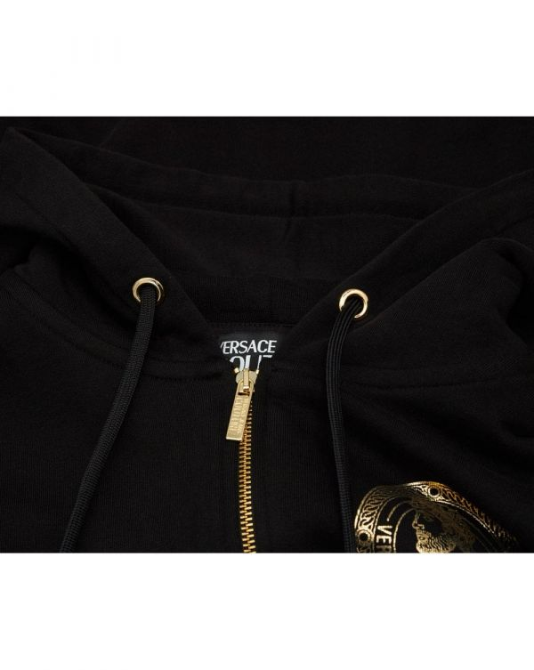Chest Foil Logo Zip Through Sweat